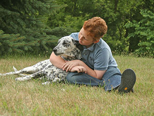 Dog that has received animal radiology near Williamston, MI