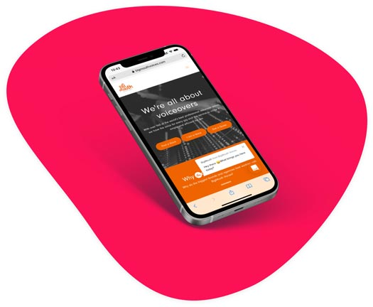 Big Mouth Voices Platform on mobile device