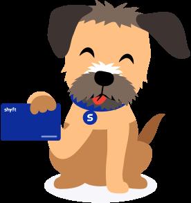 Shyft's AI virtual assistant Benji showing the ShyftCard for online payments
