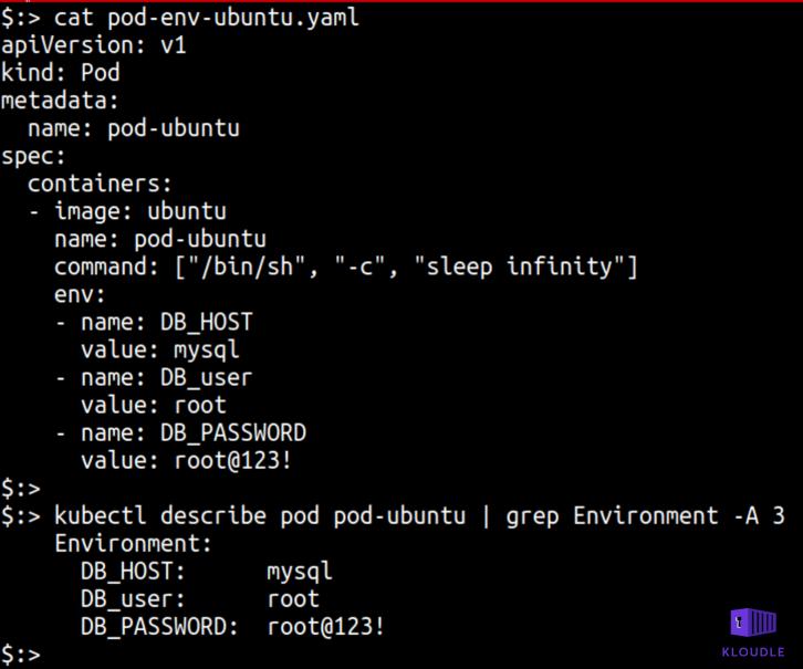 MySQL creds stored in yaml file
