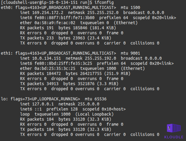 Output of ifconfig