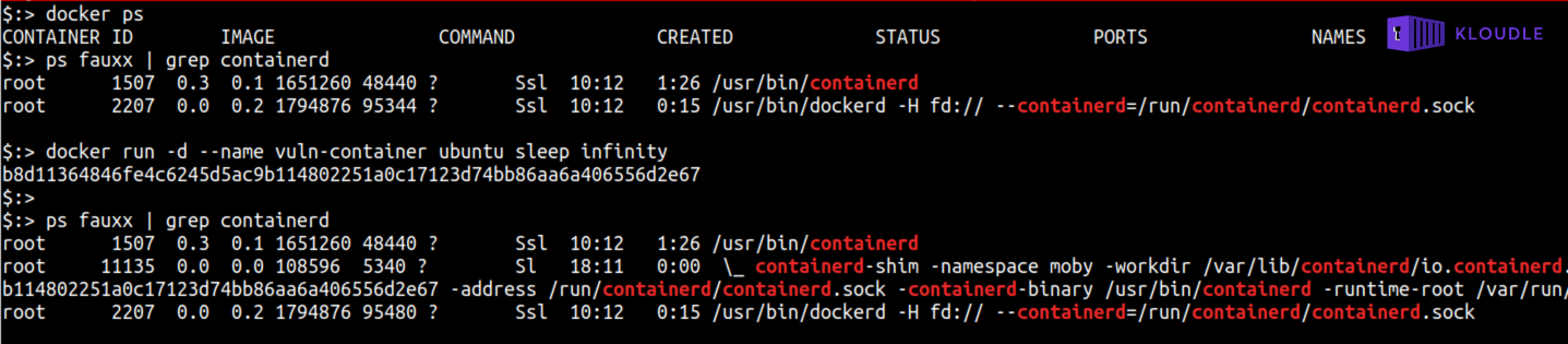 Containerd Shim Process