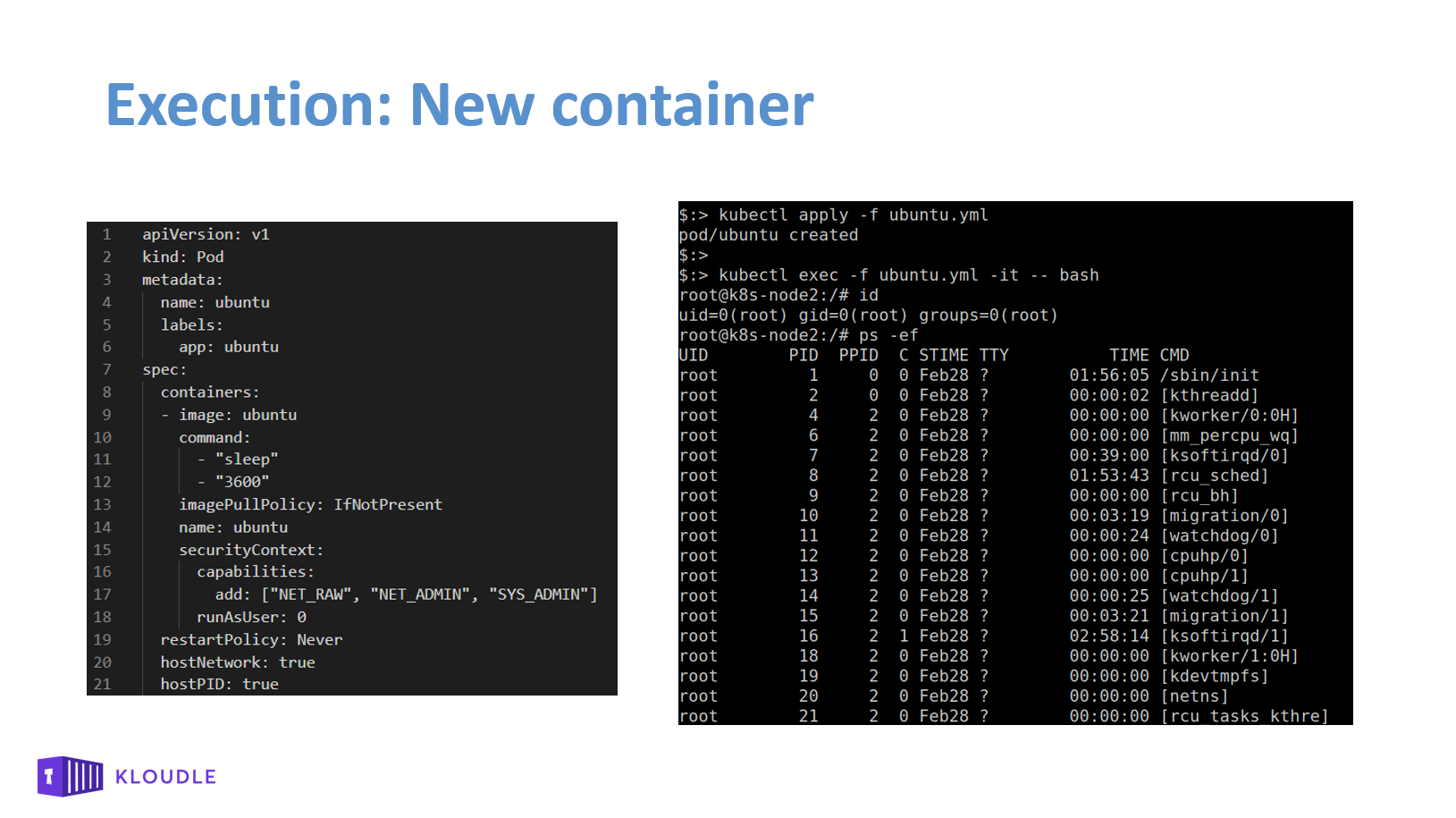 Execution New Container