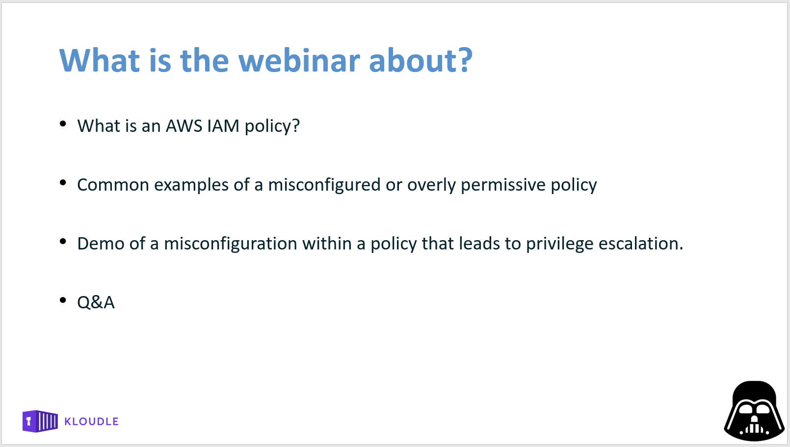 what is the webinar about