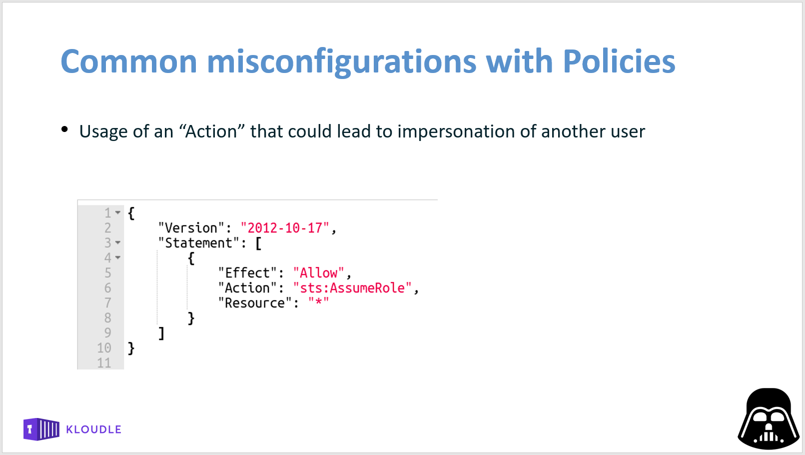 Misconfiguration via an action that could lead to user impersonation