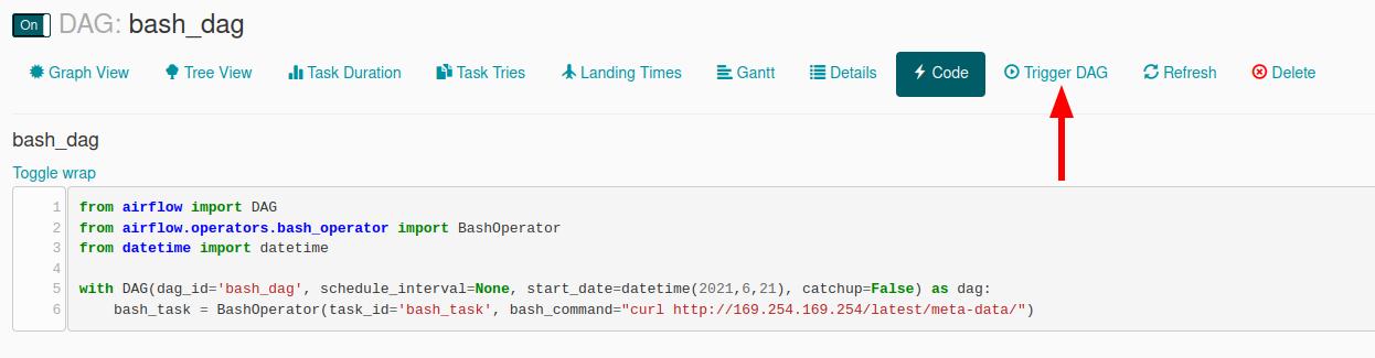 trigger DAG to fetch instance metadata
