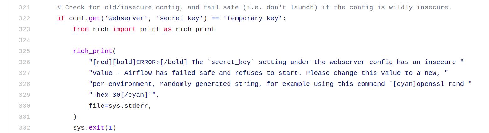 warning in python code