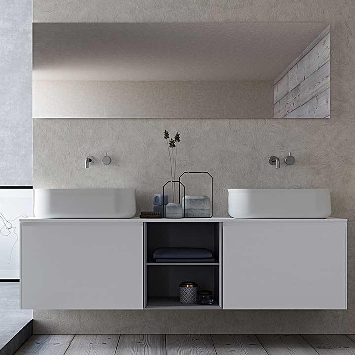 Conception et fabrication d'armoires de salle de bains