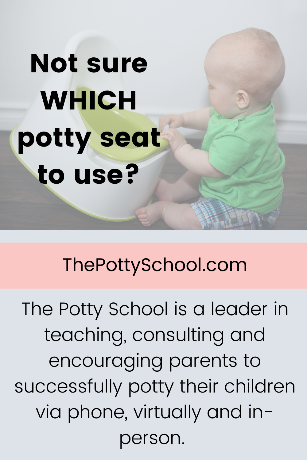 Not sure which potty to use? The Potty School Elimination Communication