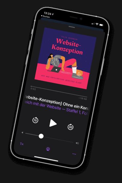 Podcast zur Website-Konzeption