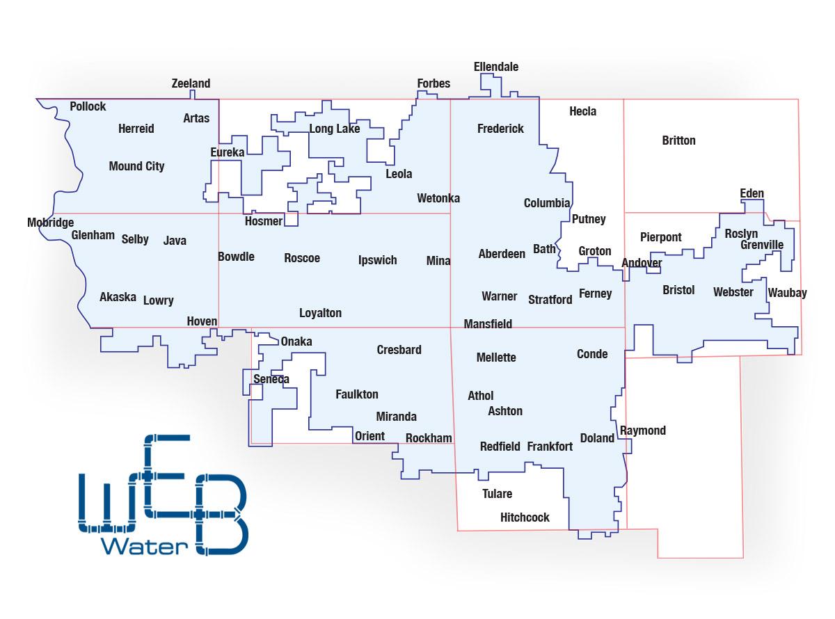 WEB Water service map