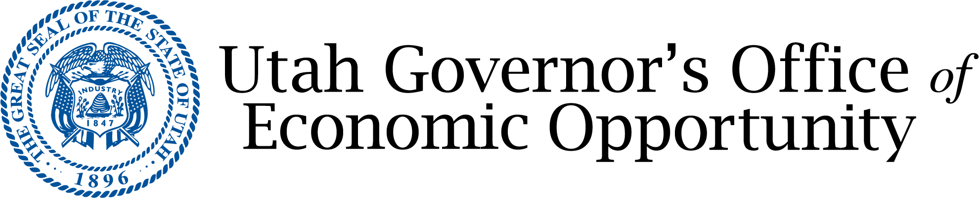 The logo of the Utah Governor's Office of Economic Opportunity.