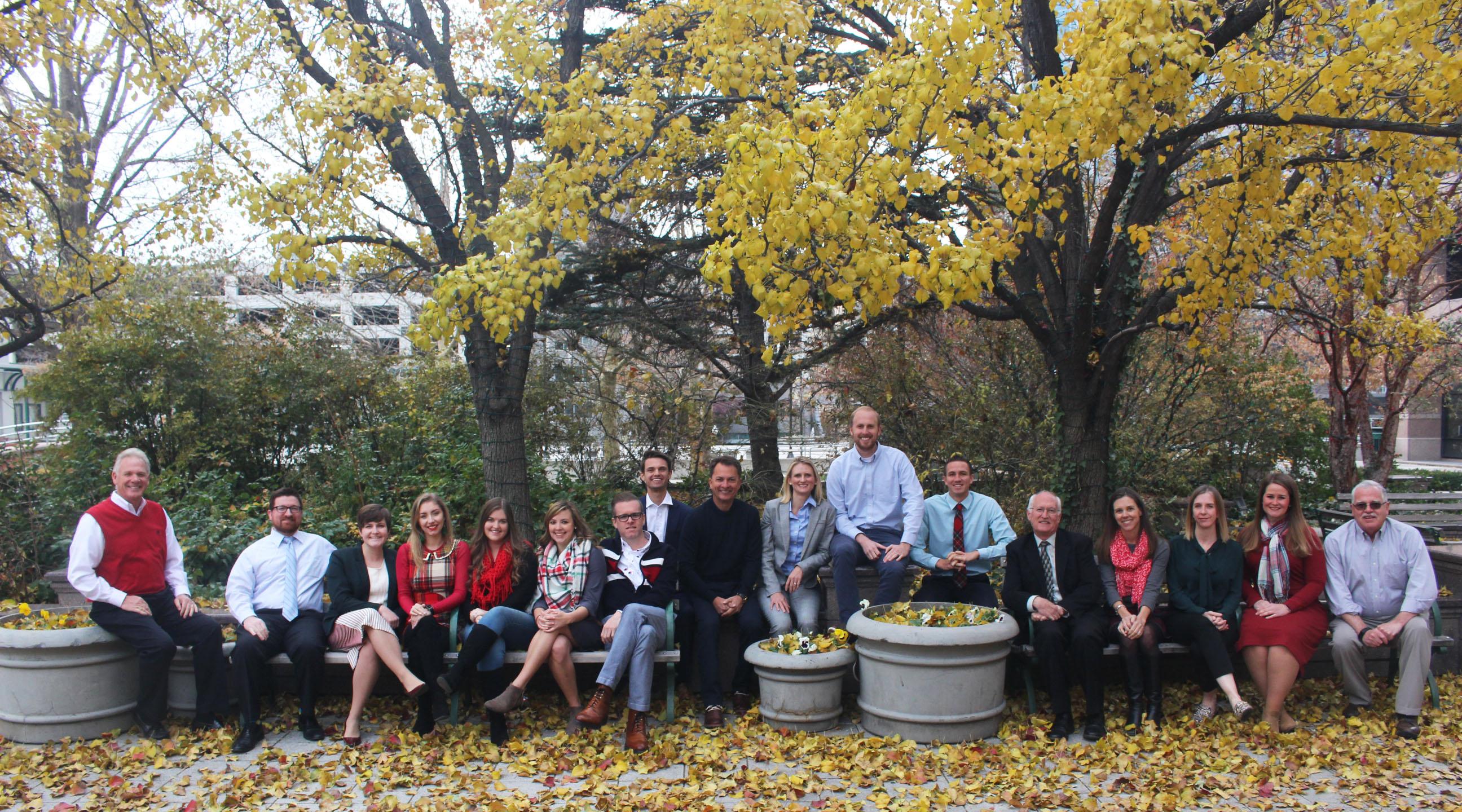 A photo of the EDCUtah staff outside their office in Salt Lake City, Utah.