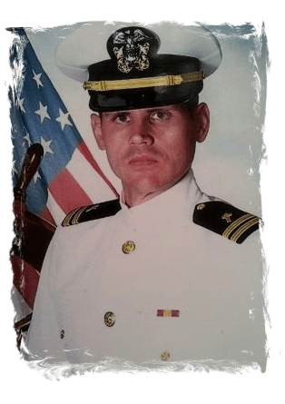 Image of Shaun Kennedy in his USN uniform.