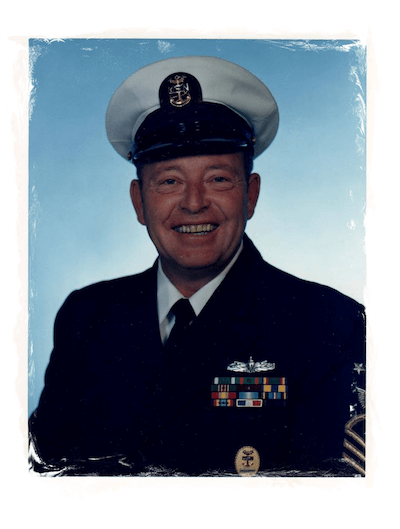 Edward Kennedy in his USN uniform, father of Council Guns owner, Virginia Duncan.