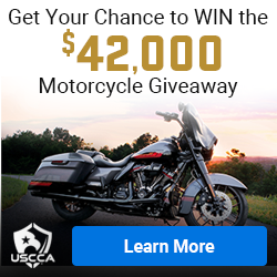 USCCA graphic with link to motorcycle give away