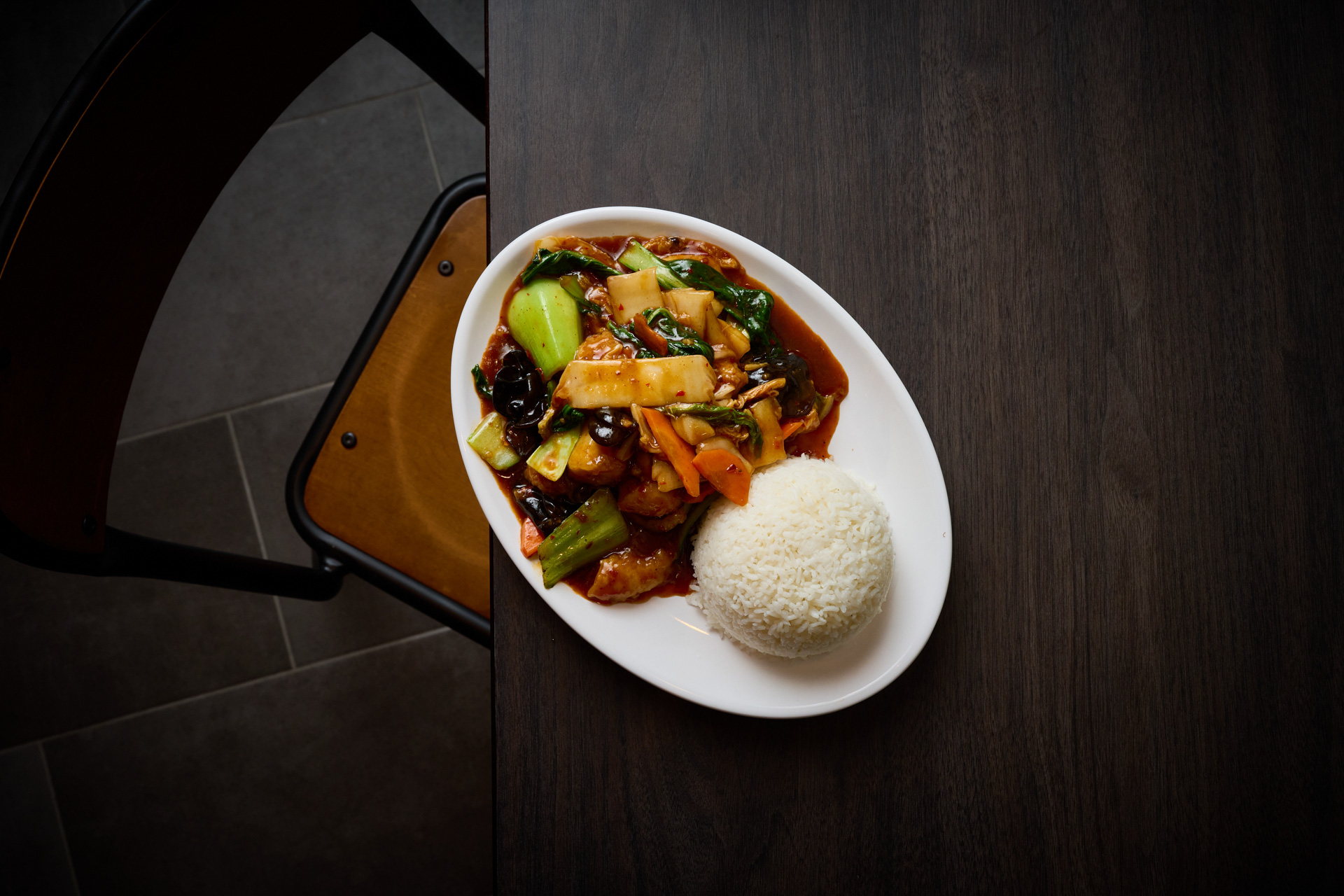 An image of a meal from Dumplings Plus.