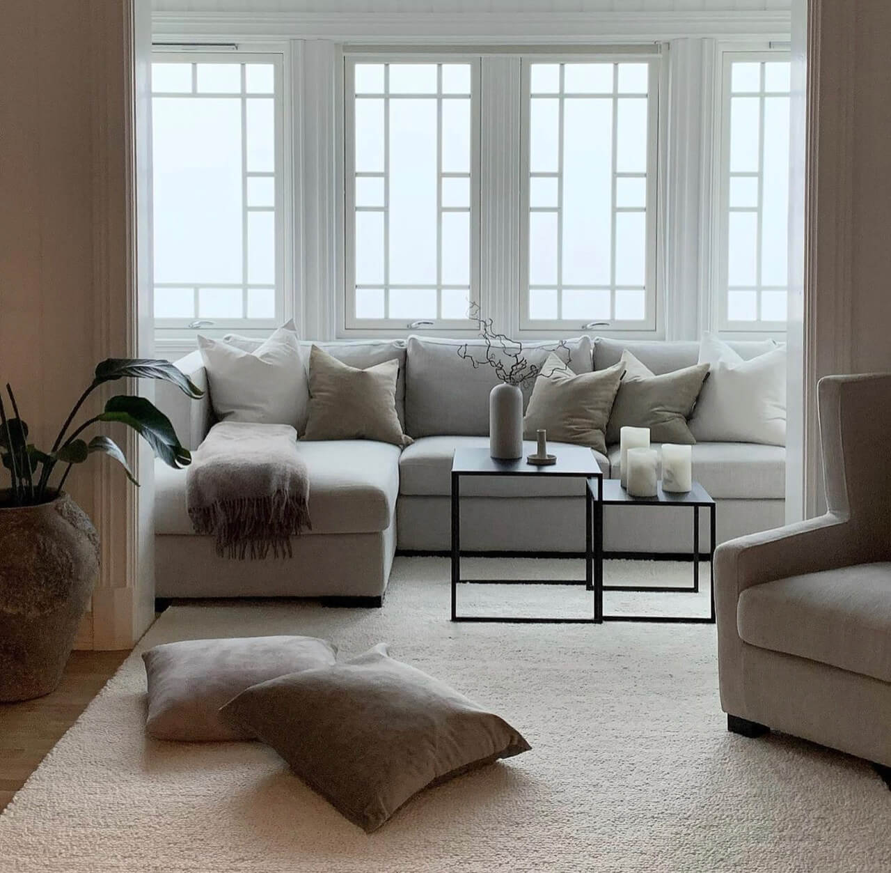Planløsning, design og møblering av Gårdshus på Haver