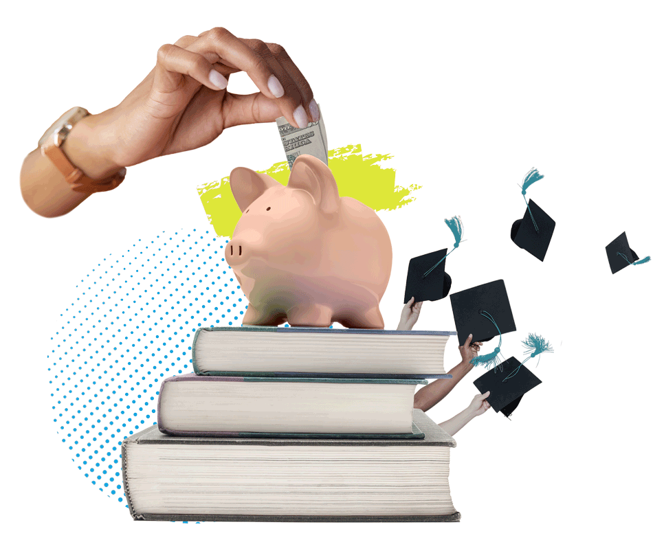 collage representing education and funding