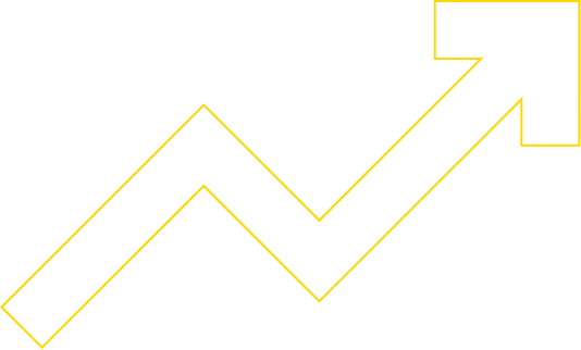 outline yellow arrow up