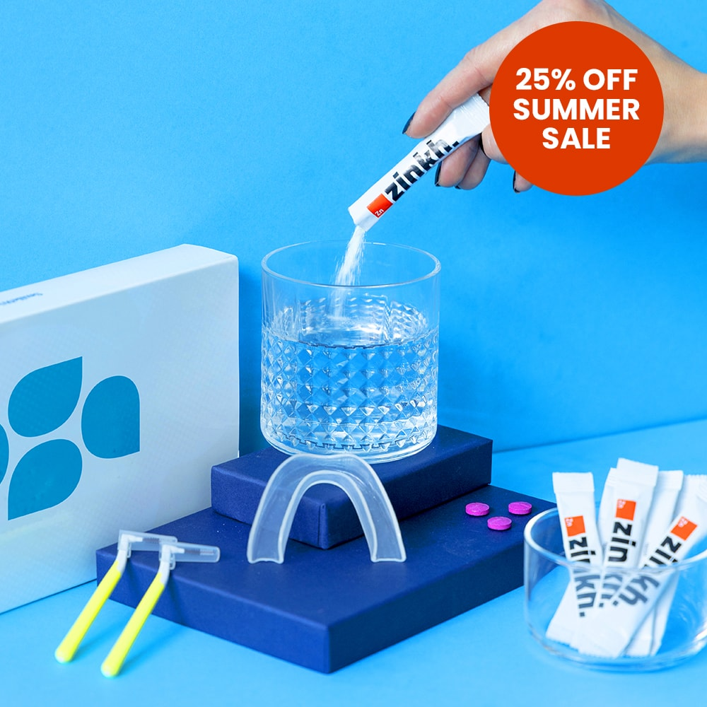 Image displaying the contents of the Elemental Oral Care Kit with 25% summer sale.