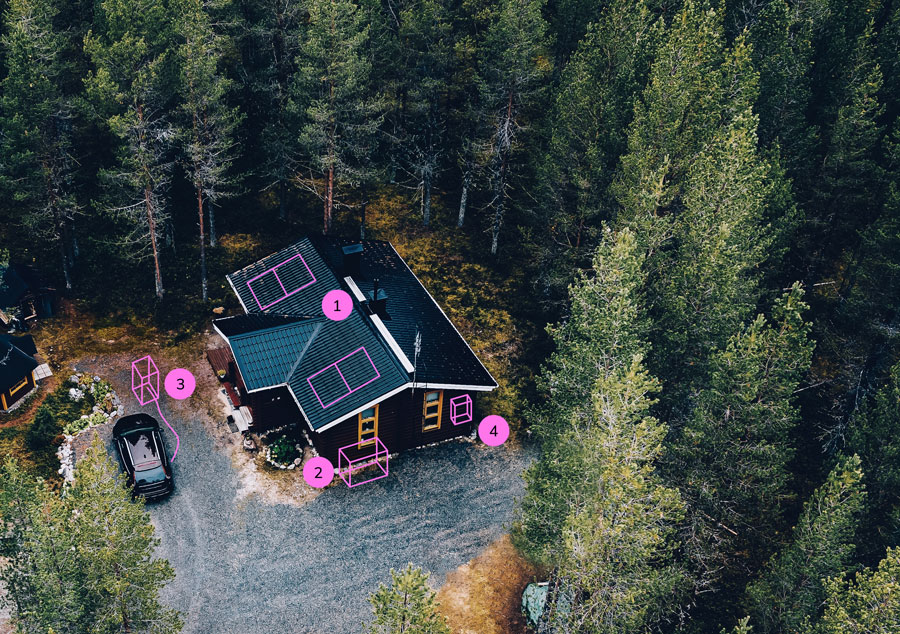 off grid house showing clean energy possibilities