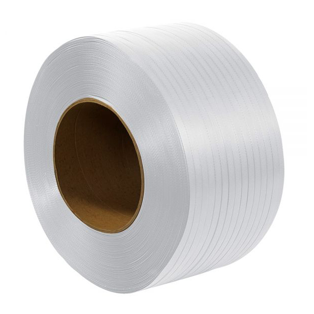 """1/2"""" 9 X 8 .024 WHITE POLYSTRAPPING 9900' MG"""