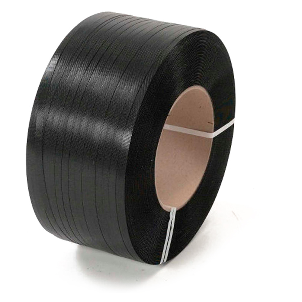 """1/2"""" 16 X 6 .027 BLACK POLY STRAPPING 9000' HG"""