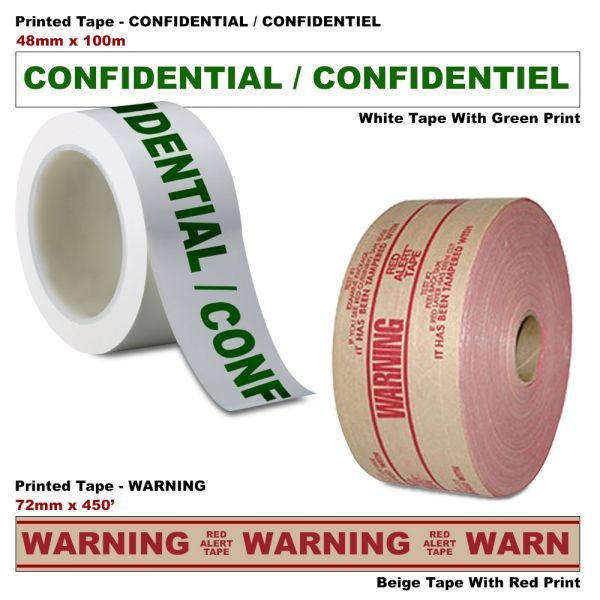 48X100 WH W/GR CONFIDENTIAL/CONFIDENTIEL (36RL/CS)