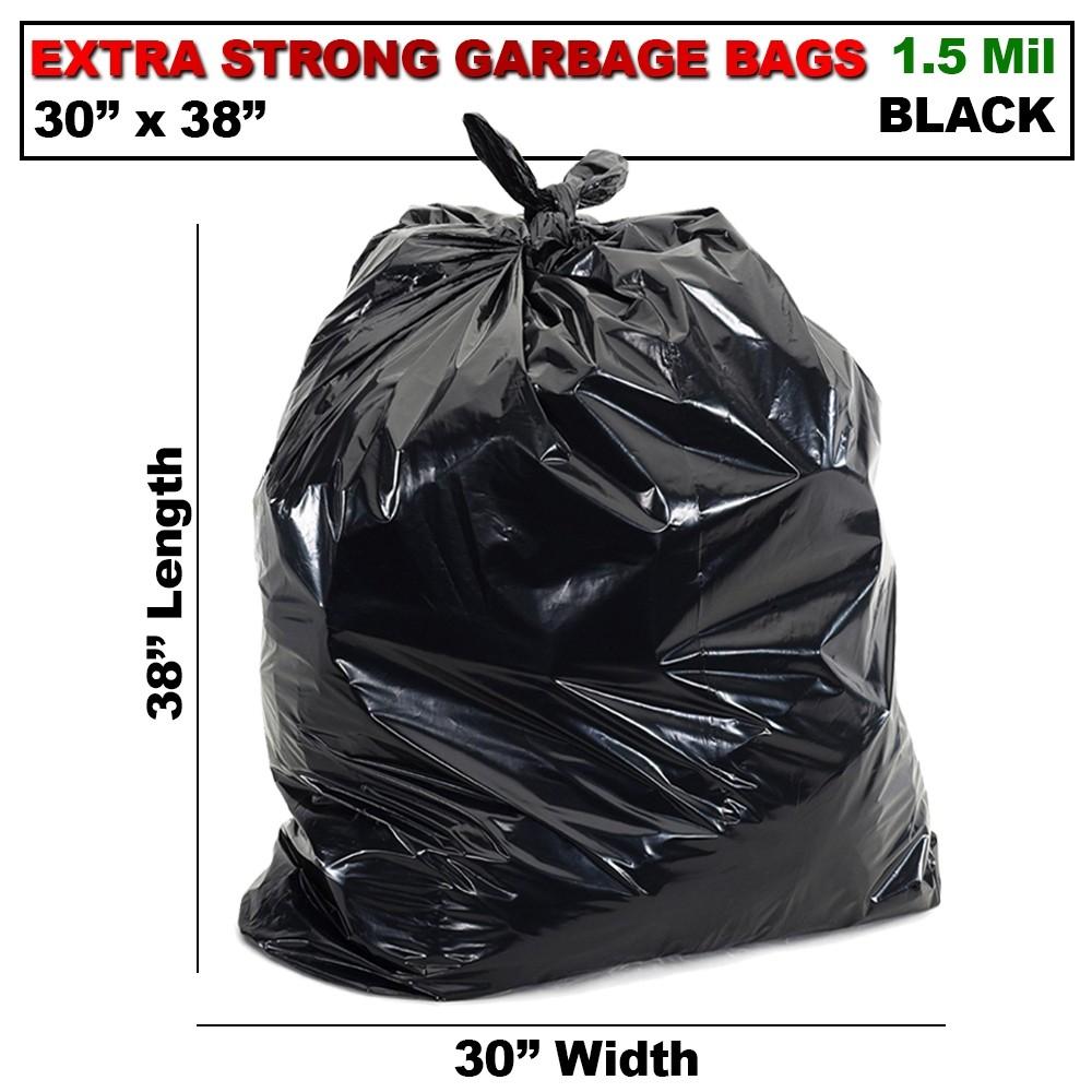 30 X 38 XTRA STRONG  BLACK GARBAGE BAGS (200/CS)