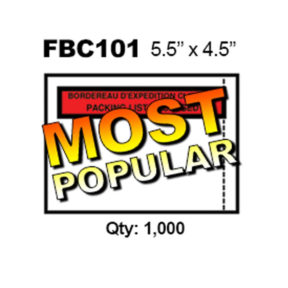 "4.5"" X 5.5"" PACKING SLIP ENVELOPES - (BI-LINGUAL) - (1000/CS)"