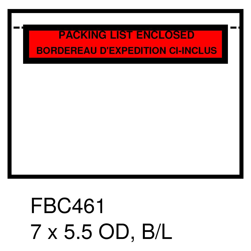 "5.5"" X 7"" PACKING SLIP ENVELPOES -  (BI-LINGUAL) - (1000/CS)"