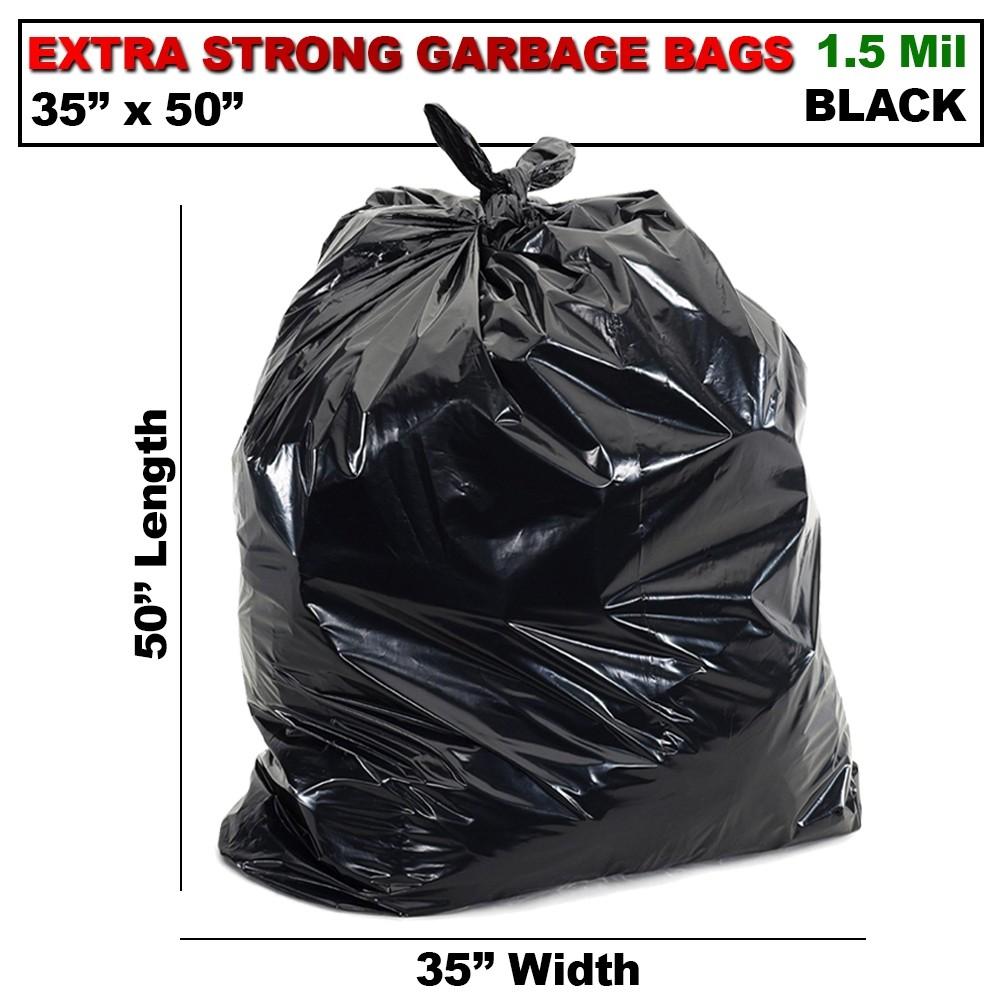 35 X 50 EX STRONG BLACK GARBAGE BAG (100/CS)