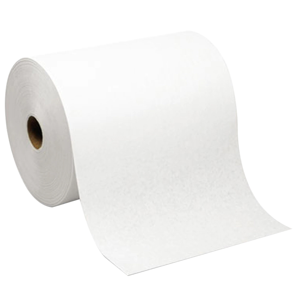 """8"""" WHITE TOWELS ON ROLL"""