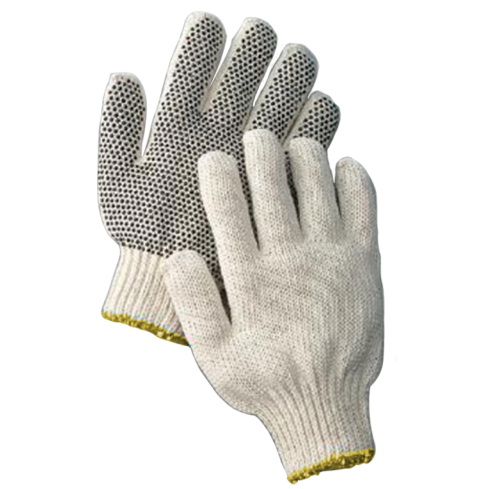 COTTON GLOVES W/DOTS - SMALL