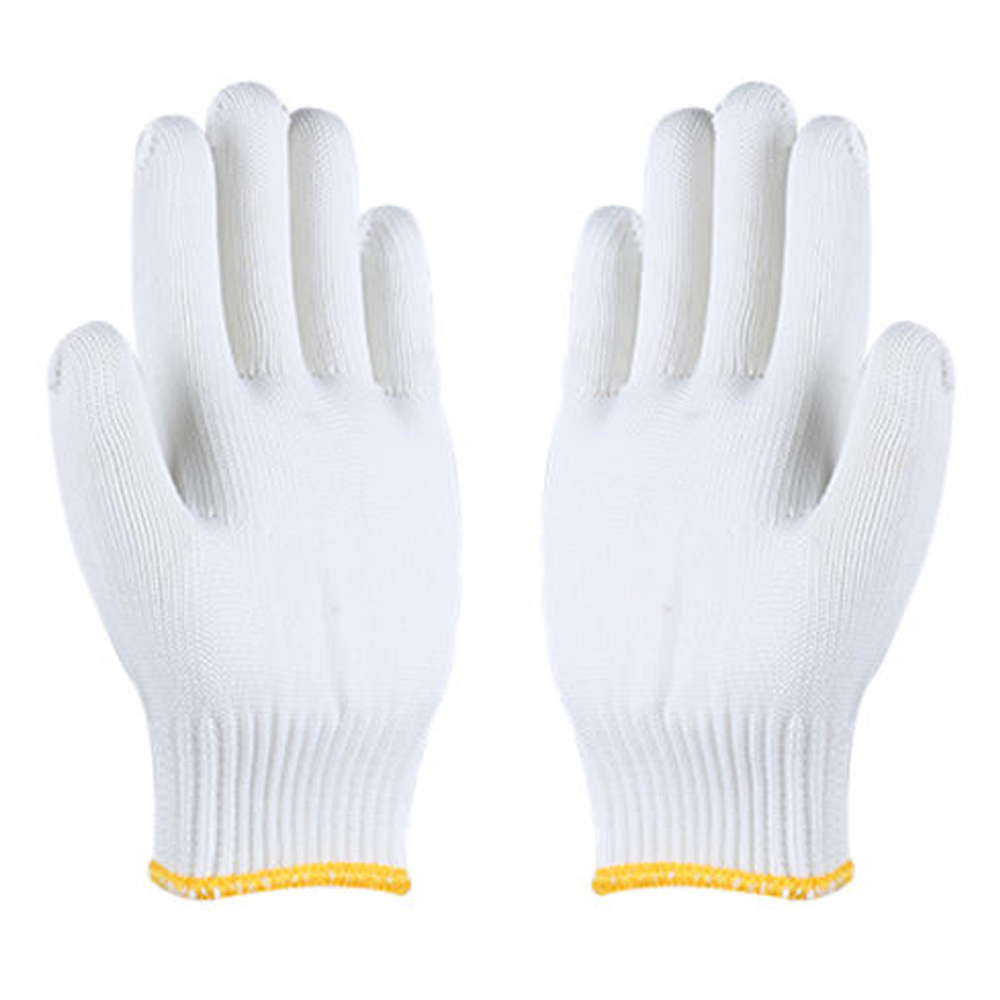 SEAMLESS KNITTED WHITE GLOVE CUT LEVEL 5 - LARGE