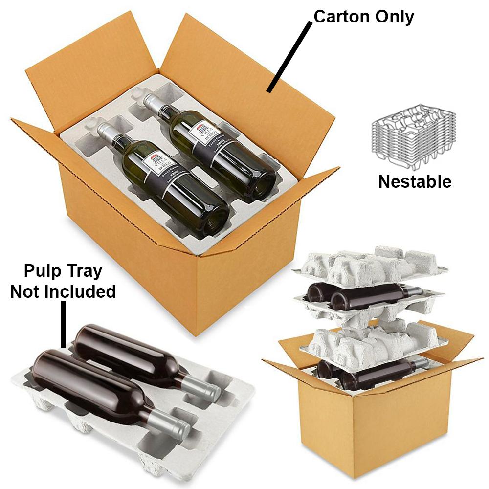 4 Pack Wine Shipper Box