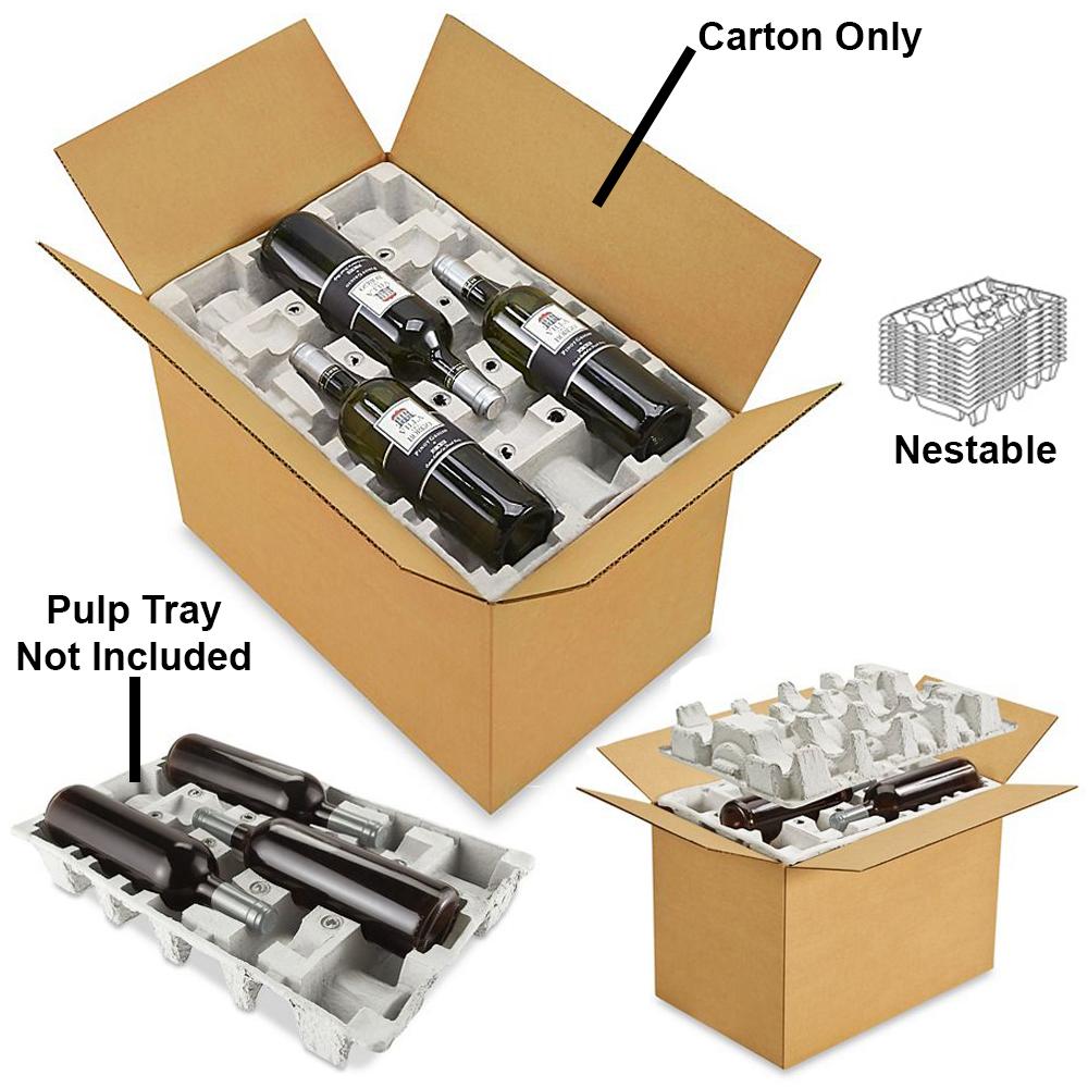 12 Pack Wine Shipper Box