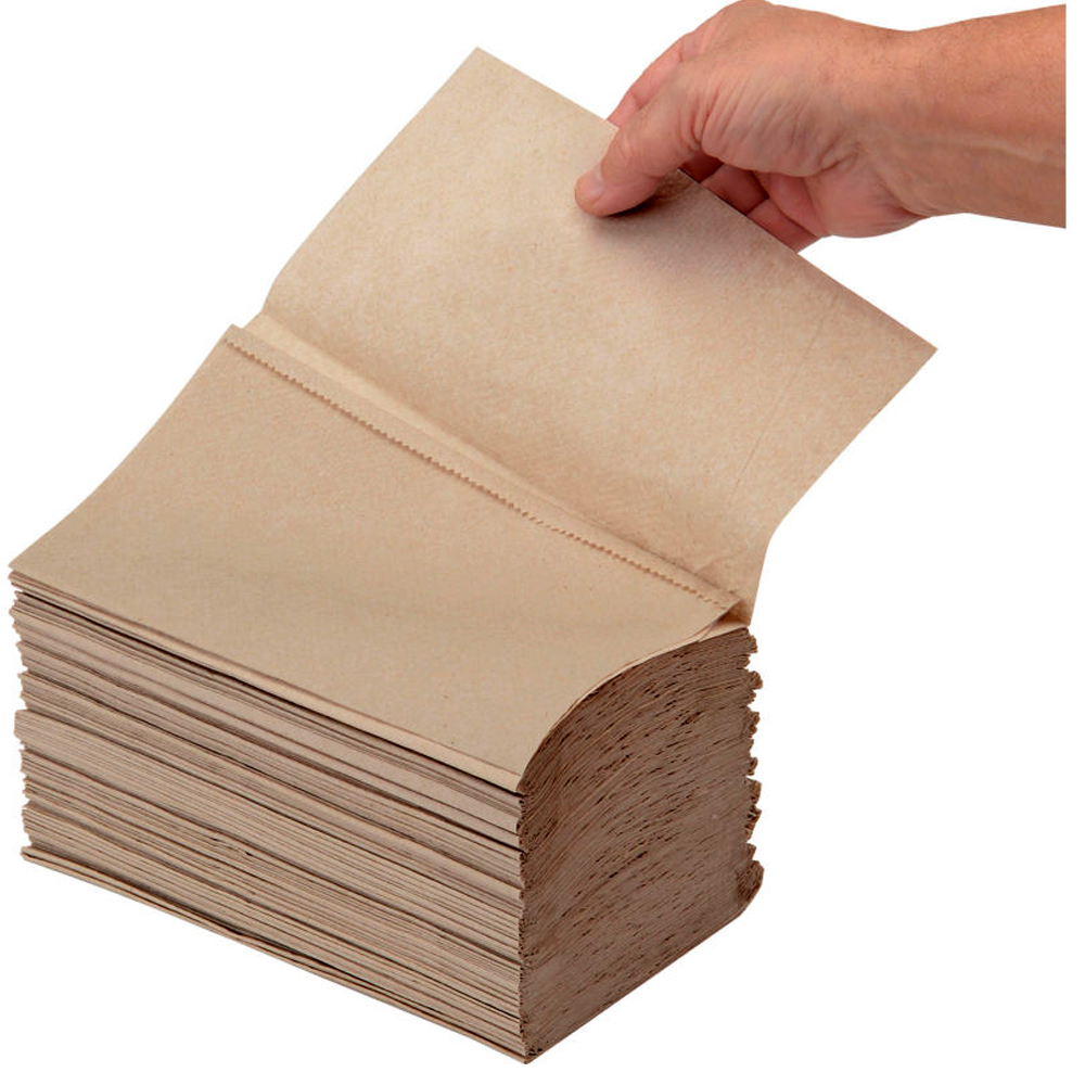 "8"" SINGLE FOLD NATURAL HAND TOWELS"