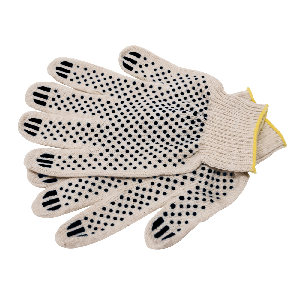 COTTON GLOVES W/DOTS - X SMALL