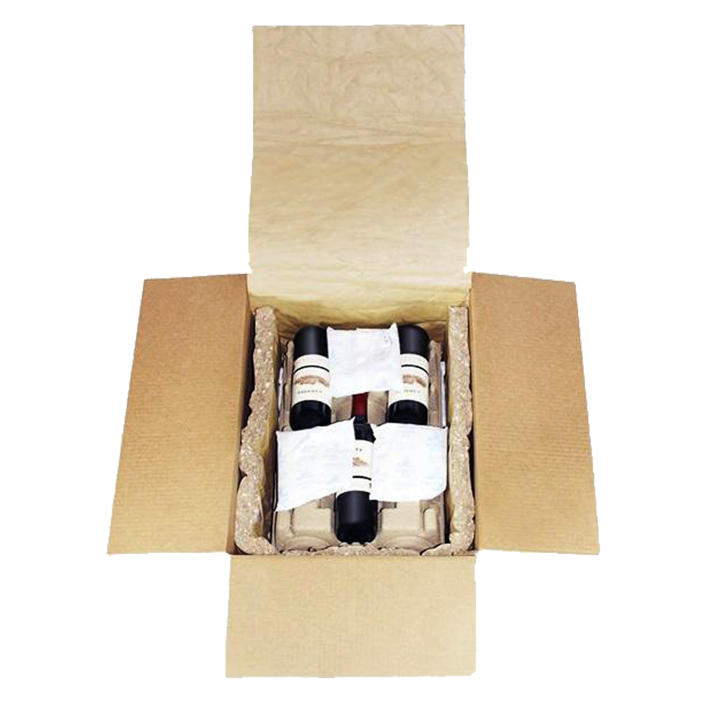 6 Pack Wine Shipper Box