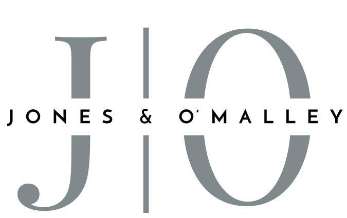 A logo for Jones & O'Malley