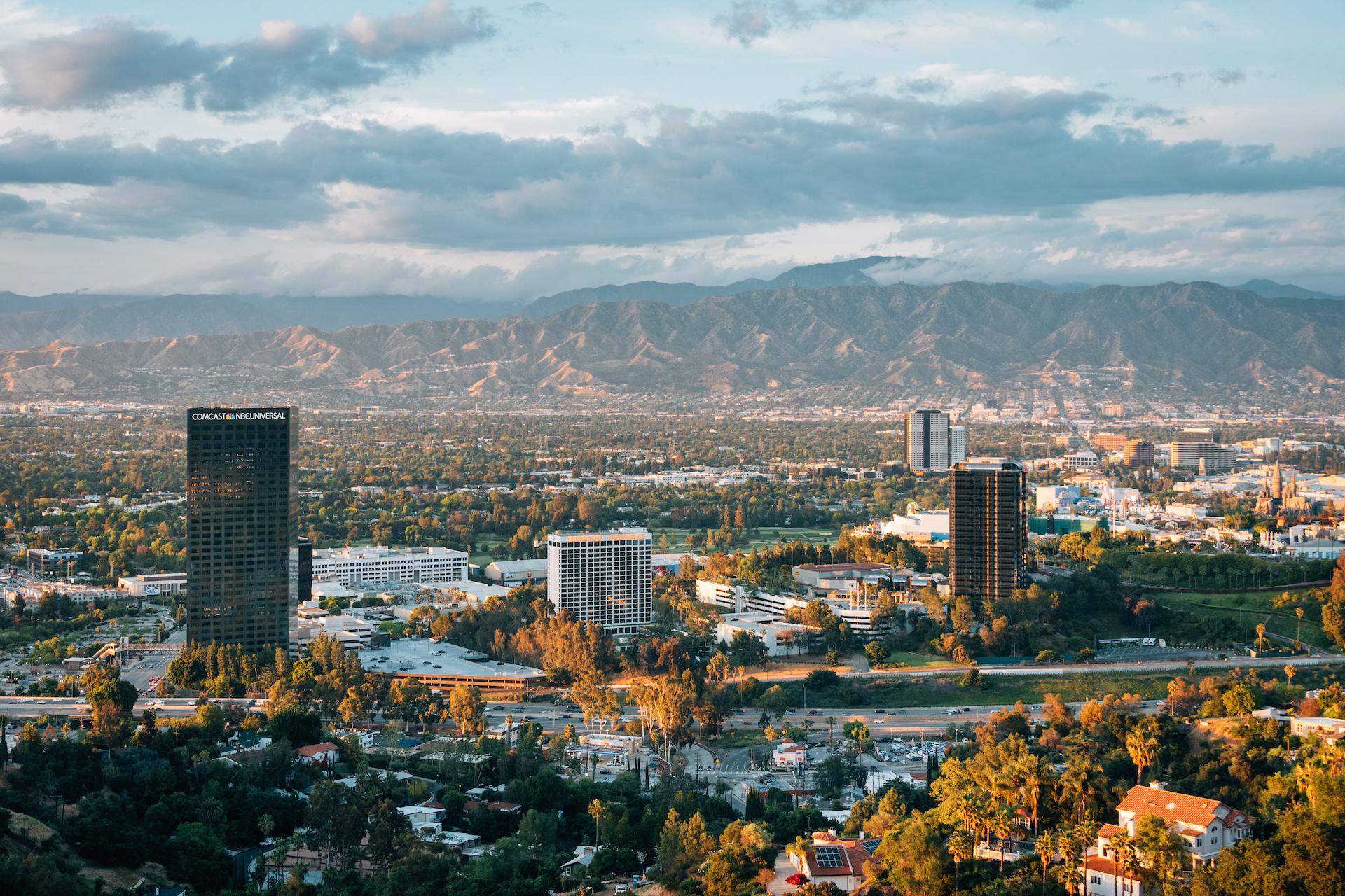Comcast NBC building in Universal City Los Angeles
