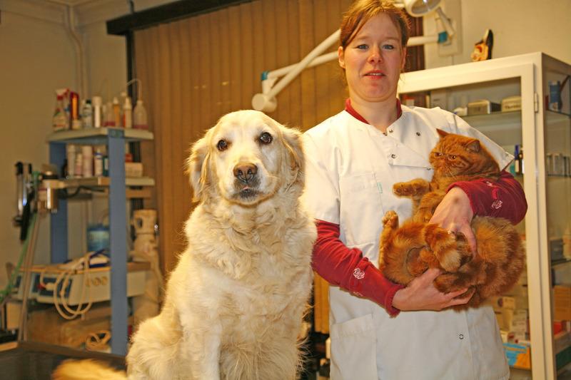 Nathalie met patienten