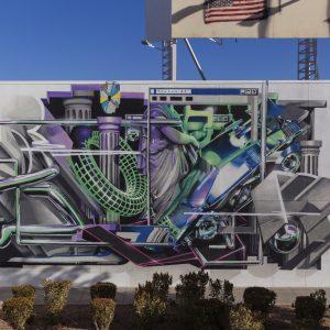 Graffiti-style mural