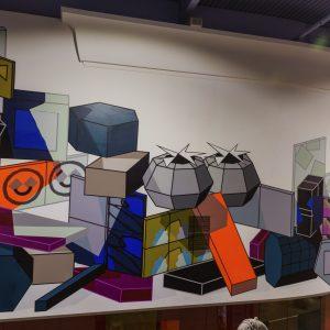 Geometric Colorful mural