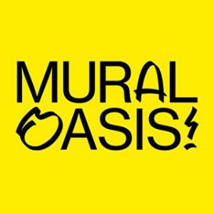 Mural Oasis written on a yellow background